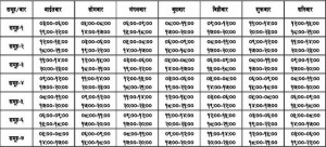 Latest Loadshedding schedule
