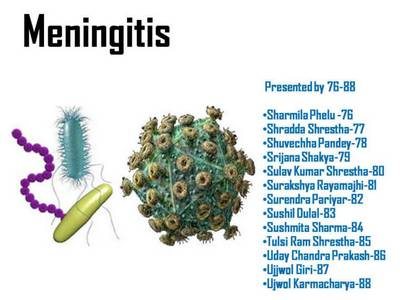 Causative agents of meningitis