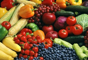 Antioxidant rich fruits and vegetables