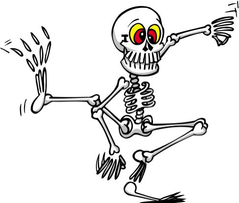skeleton cartoon