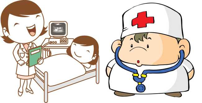 cartoon-doctor-nurse-patient