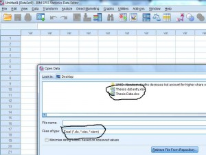 excel to spss import