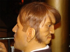 No real photo of the Edward Mordrake exists. This is a wax statue of poor Edward which was sculpted long after his demise. It is uncertain, how real is the depiction of this statue.