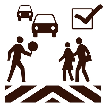 crosswalk safety poster