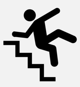 stairs fall